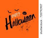 grunge style happy halloween... | Shutterstock .eps vector #720792907