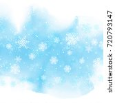 christmas snowflakes on a... | Shutterstock .eps vector #720793147