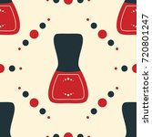 seamless pattern of nail polish ... | Shutterstock .eps vector #720801247