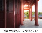chinese temple architecture | Shutterstock . vector #720804217