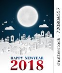party happy new year 2018 on... | Shutterstock .eps vector #720806557