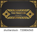 thai art element traditional... | Shutterstock .eps vector #720806563