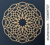 laser cutting mandala. golden... | Shutterstock .eps vector #720809737