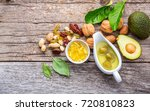 selection food sources of omega ...   Shutterstock . vector #720810823