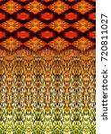 watercolor ethnic pattern   Shutterstock . vector #720811027
