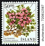 iceland   circa 1988  a stamp...   Shutterstock . vector #720812587