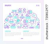 epilepsy concept in half circle ... | Shutterstock .eps vector #720812977