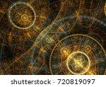 golden mechanical compass ... | Shutterstock . vector #720819097