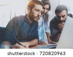 teamwork concept.young...   Shutterstock . vector #720820963