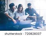 teamwork process concept.group...   Shutterstock . vector #720828337