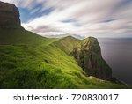 kallur lighthouse  kalsoy... | Shutterstock . vector #720830017