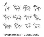 set of animal line icon   Shutterstock .eps vector #720838057