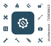 set of 13 editable repair icons....