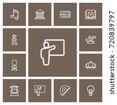 set of 13 editable education... | Shutterstock .eps vector #720839797