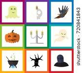flat icon celebrate set of... | Shutterstock .eps vector #720841843
