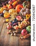 Vegetables Pumpkins And Fruits...