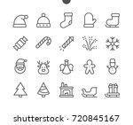 merry christmas ui pixel... | Shutterstock .eps vector #720845167