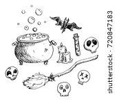 set of doodle elements for... | Shutterstock .eps vector #720847183