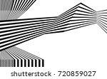 black and white stripe line... | Shutterstock .eps vector #720859027