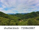 mountains  sky  road. lazovsky... | Shutterstock . vector #720863887