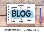 blog   notes about blog concept.   Shutterstock . vector #720876373