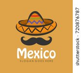 mexican hat icon logo design... | Shutterstock .eps vector #720876787