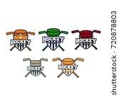 hockey logo collection | Shutterstock .eps vector #720878803