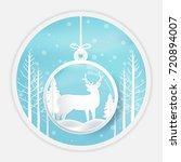 deer standing in ball... | Shutterstock .eps vector #720894007