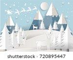 vector illustration of santa... | Shutterstock .eps vector #720895447