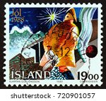 iceland   circa 1988  a stamp... | Shutterstock . vector #720901057