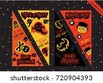 set of halloween tickets cards... | Shutterstock .eps vector #720904393