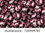 pattern of rose    Shutterstock .eps vector #720909787