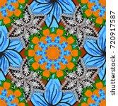 pattern  seamless  floral... | Shutterstock .eps vector #720917587