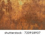 grunge rusted metal texture ... | Shutterstock . vector #720918937