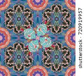 vector floral illustration in... | Shutterstock .eps vector #720919957