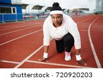young oversized competitor of...   Shutterstock . vector #720920203