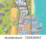vector illustration. landscape... | Shutterstock .eps vector #720920947