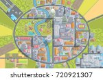 vector illustration. city top... | Shutterstock .eps vector #720921307