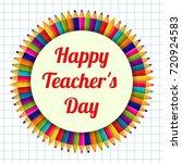 happy teacher's day. greeting... | Shutterstock .eps vector #720924583