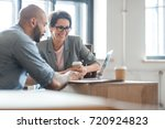 successful professionals... | Shutterstock . vector #720924823