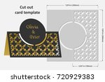 template cards to cut. topper.... | Shutterstock .eps vector #720929383