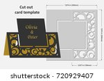 template cards to cut. topper.... | Shutterstock .eps vector #720929407