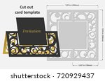 template cards to cut. topper.... | Shutterstock .eps vector #720929437