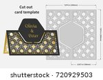 template cards to cut. topper.... | Shutterstock .eps vector #720929503