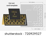 template cards to cut. topper.... | Shutterstock .eps vector #720929527