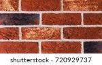 texture of natural brick.... | Shutterstock . vector #720929737