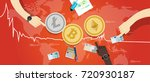crypto currency bitcoin... | Shutterstock .eps vector #720930187