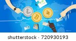 Stock vector crypto currency bitcoin ethereum litecoin price value market rally going up increase chart 720930193
