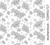 seamless pattern christmas tree ... | Shutterstock .eps vector #720931717