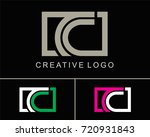 letter c logo vector with square | Shutterstock .eps vector #720931843